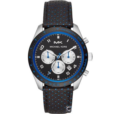 Michael Kors 個性三眼碼錶計時男錶(MK8706)43mm