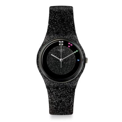 Swatch X Mas 系列手錶 SCINTILLANTE 黑色耶誕 -34mm