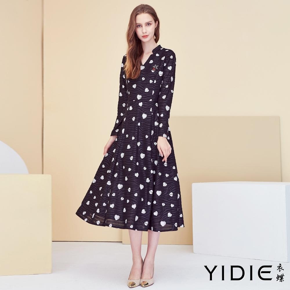 【YIDIE衣蝶】小愛心抓皺長洋裝