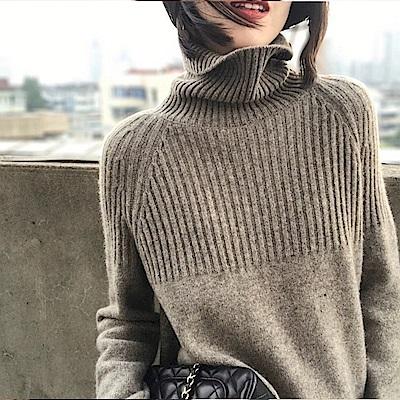初色  高領羊絨毛衣-共7色-(M-XL可選)