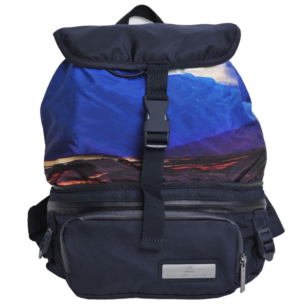 STELLA MCCARTNEY Backpack 腰包/後背兩用輕量機能包(深藍底色)