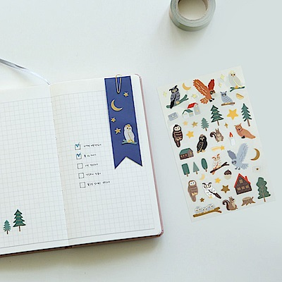 Dailylike 手帳專用貼紙-04貓頭鷹