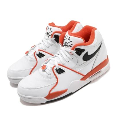 Nike 休閒鞋 Air Flight 89 EMB 運動 男鞋 經典款 復古 舒適 球鞋 穿搭 街頭籃球 白 橘 CZ6097100