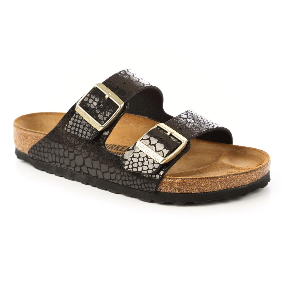 勃肯BIRKENSTOCK1000257亞利桑那經典二條拖鞋-閃亮石紋黑