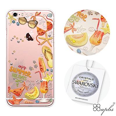 apbs iPhone6s/6 Plus 5.5吋施華洛世奇彩鑽手機殼-享樂仲夏