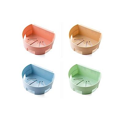 【Incare】排水透氣-耐重無痕免釘廚衛置物架(4色可選/4入組)