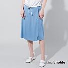獨身貴族 低調甜美腰帶設計一片裙(2色)