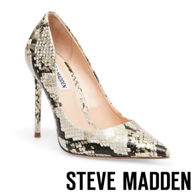 STEVE MADDEN-VALA摩登派對素面尖頭高跟鞋-蛇紋