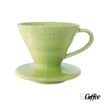 TCoffee HARIO-V60萊姆綠01彩虹磁石濾杯