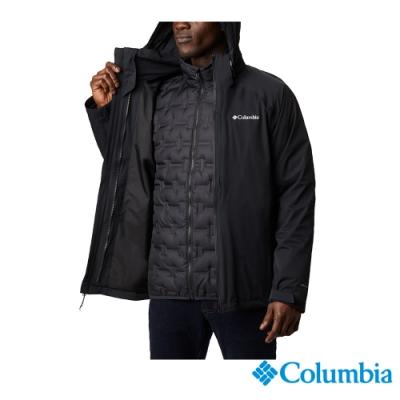 Columbia 哥倫比亞 男款 - Omni-Tech防水鋁點保暖650羽絨兩件式外套-黑色 UWE11570BK