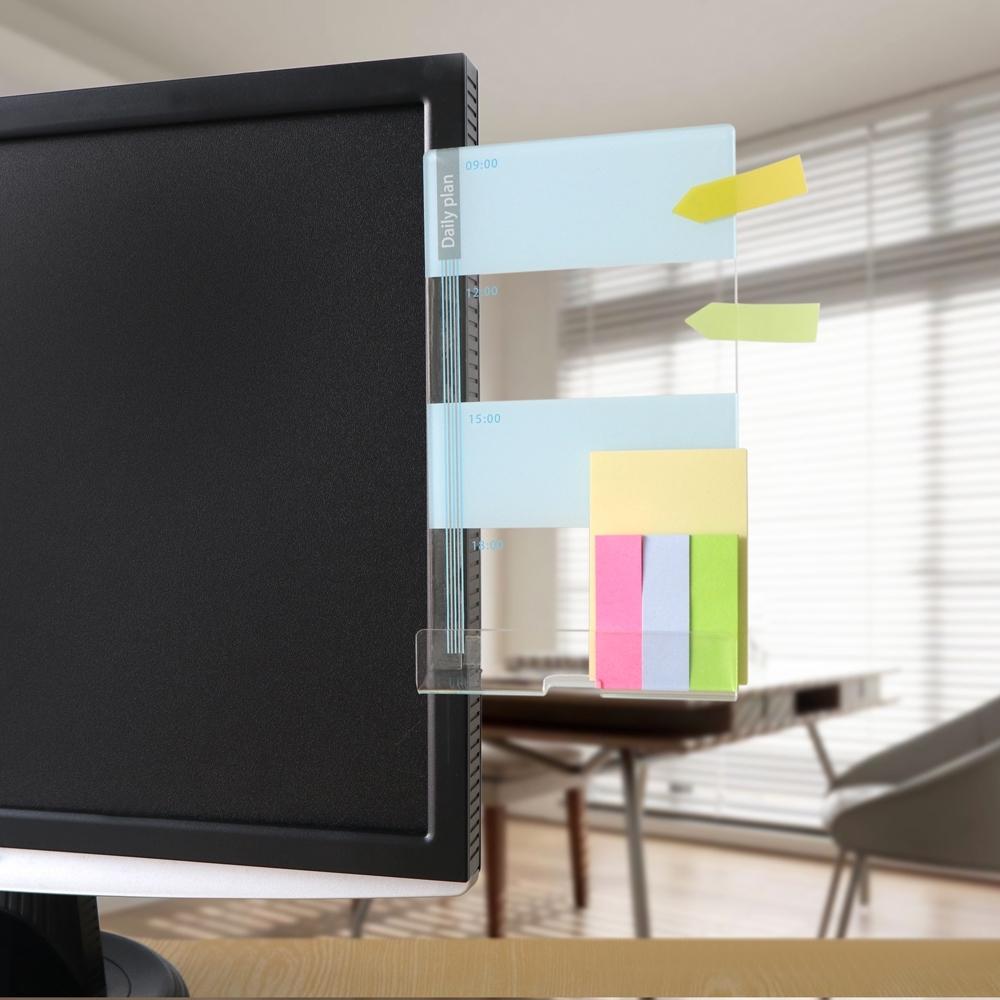 OSHI歐士 側邊留言板-日計畫(藍)-右測款/螢幕留言板/便利貼留言板/手機座/手機架
