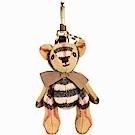 BURBERRY Thomas Vintage 酒紅背包造型新格紋泰迪熊吊飾