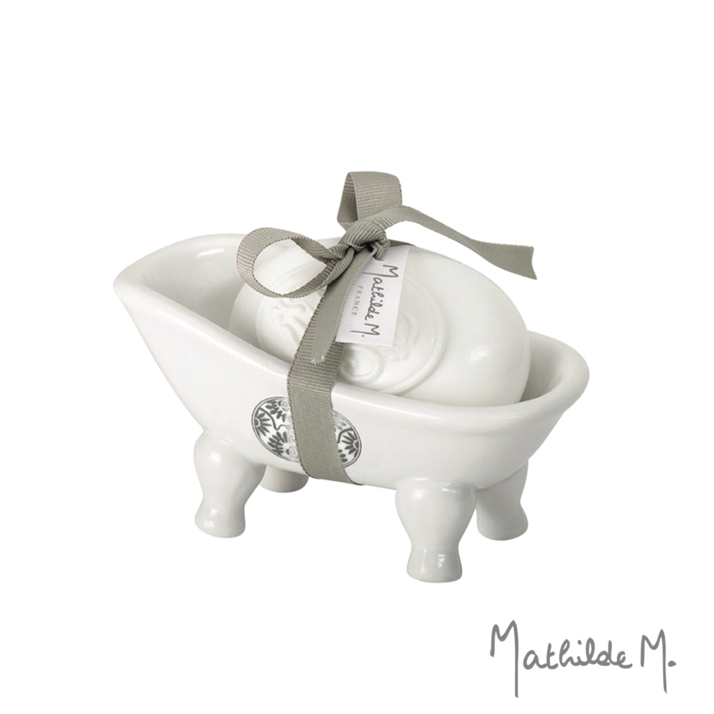 Mathilde M. 法國瑪恩.浴缸香皂組-絲絲入扣
