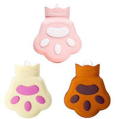 萌趣小熊掌 保暖熱水袋/暖手袋 450ml 矽膠注水式(可微波可冷藏)