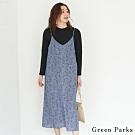 Green Parks 【SET ITEM】素面/碎花吊帶洋裝+圓領素面上衣