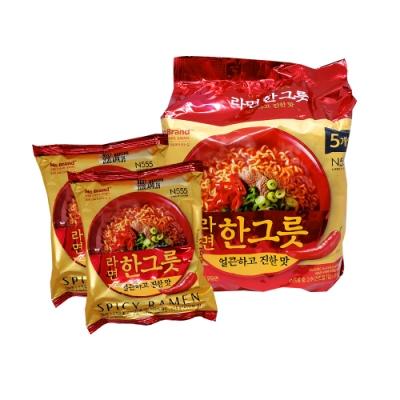 NO BRAND 韓式大醬辣牛肉風味拉麵(115gx5包)
