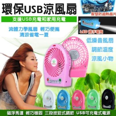 環保USB三段風速可攜式涼風扇