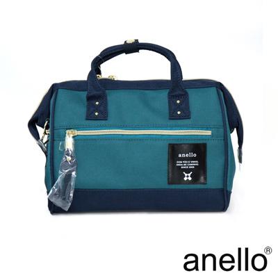 anello 輕便型波士頓 兩用手提斜背包  湖綠x深藍 M