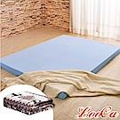 (福氣超值組)LooCa 綠能護背8cm減壓床墊-加大6尺 搭吸濕排汗表布