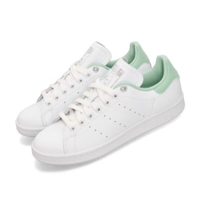 adidas 休閒鞋 Stan Smith 復古 低筒 女鞋 愛迪達 三葉草 皮革 史密斯 穿搭 白 綠 G27908