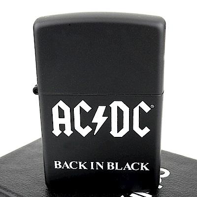 ZIPPO 美系~AC/DC-樂團BACK IN BLACK專輯圖案設計打火機
