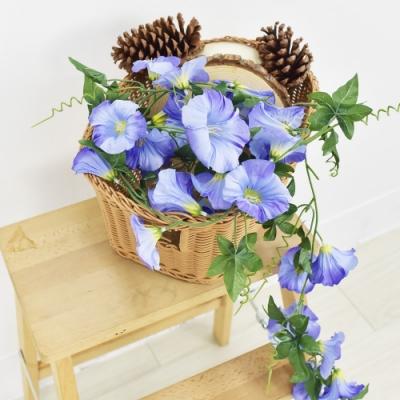 【Meric Garden】仿真牽牛花串-藍紫色(6尺)