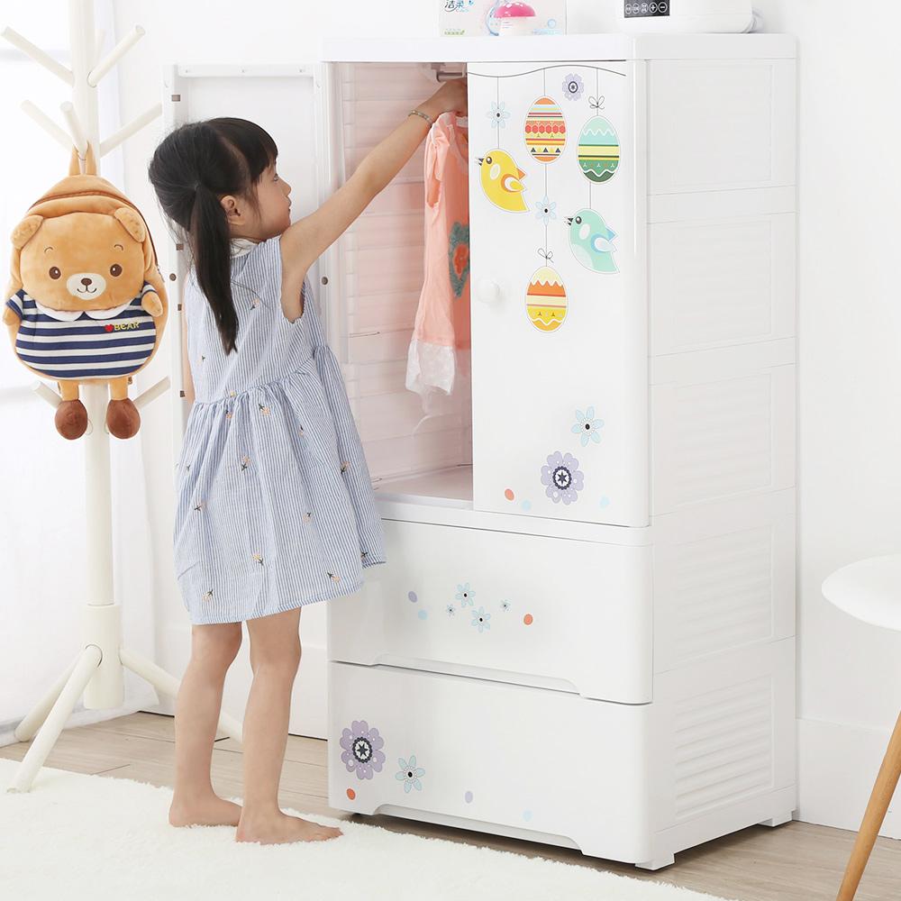 【+O家窩】貝格雙開門式兒童收納吊衣櫃-DIY @ Y!購物