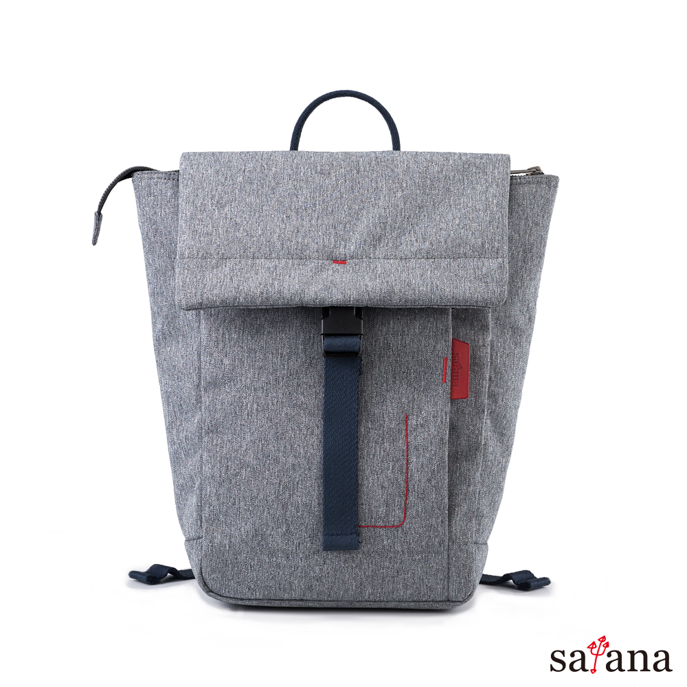 satana - Fresh 輕職人俐落率性後背包 - 麻花灰