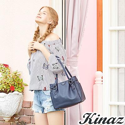 KINAZ 優雅漫舞兩用斜背包-星夜藍-蝴蝶系列