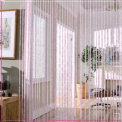 芸佳絲柔系列 粉色螺旋線簾