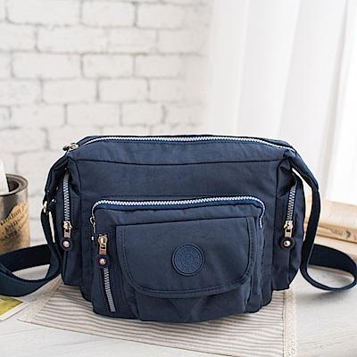 COUNT DUCK 美系悠活輕量多口袋側背包-CD-010-海軍藍