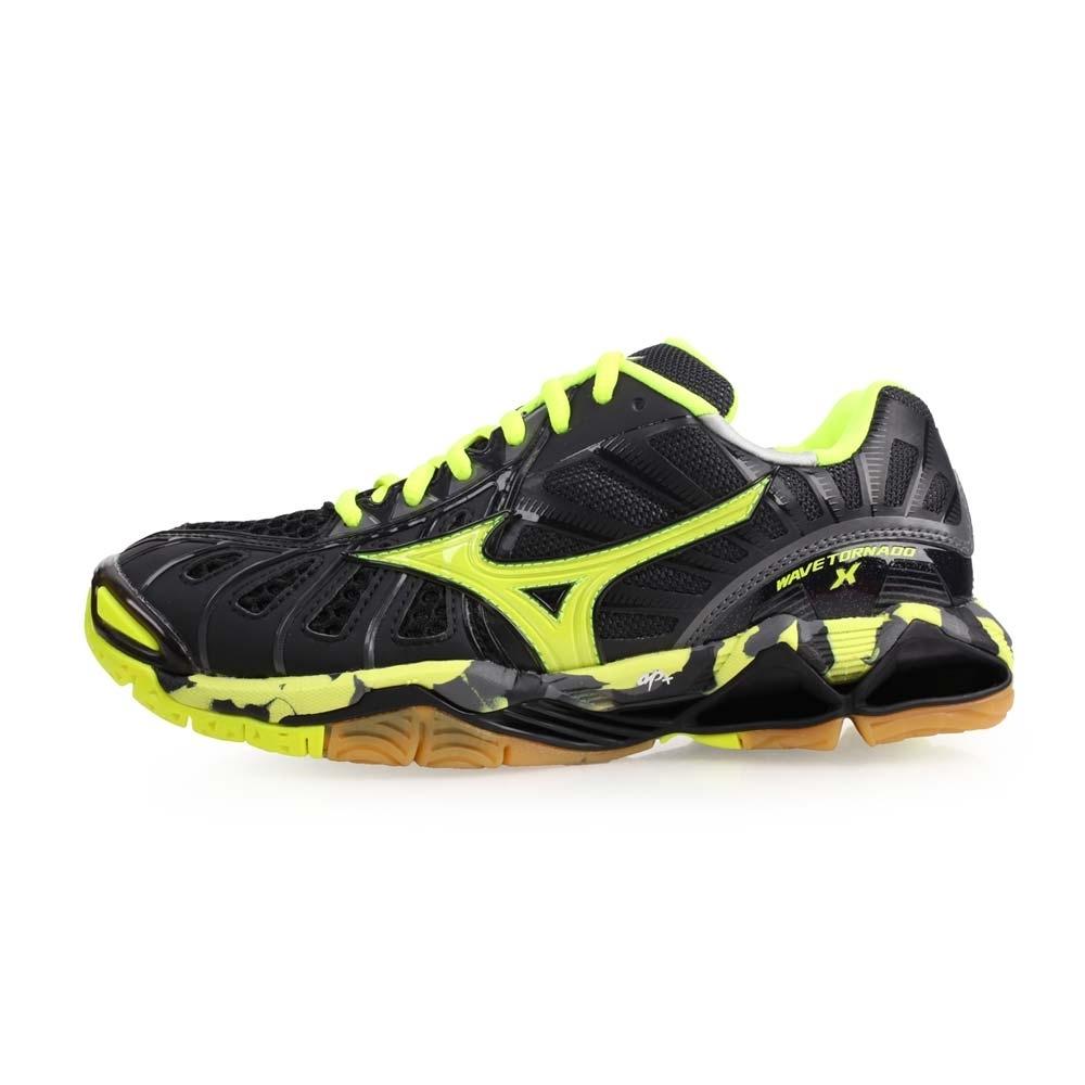 MIZUNO WAVE TORNADO X 男排球鞋-美津濃 螢光黃黑