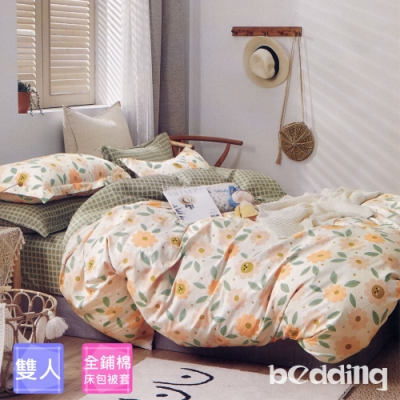 BEDDING-純棉全鋪棉四件式兩用被床包組-拈花謠(雙人)