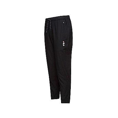 FILA 男款平織長褲-黑色 1PNT-1448-BK