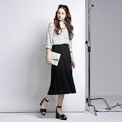 舒適層次設計細摺長裙.2色-OB嚴選