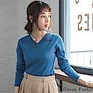Green Parks 羅紋針織V領上衣