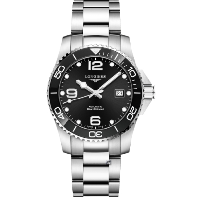 LONGINES浪琴征服者系列陶瓷潛水機械錶(L37814566)-黑