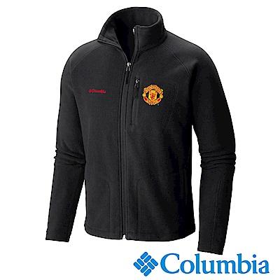 Columbia 哥倫比亞 男款-曼聯刷毛外套-黑色 UXE16450BK