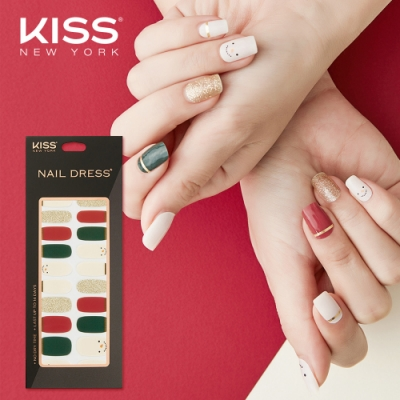 KISS New York-Nail Dress頂級光療指甲貼紙(一起推雪人 KND36K)