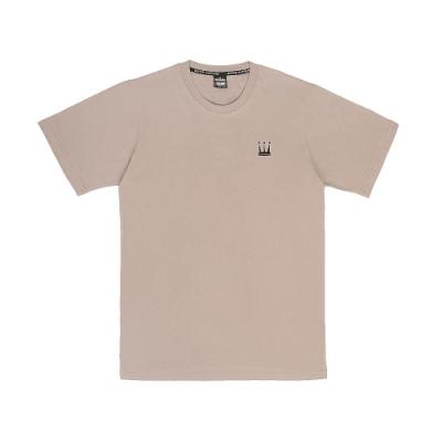 【DADA SUPREME】EMBROIDERY CROWN 中性刺繡休閒短袖上衣-駝色