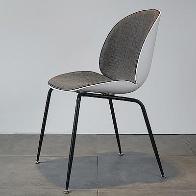 【日居良品】亞麻系列北歐現代主義設計金屬椅腳休閒椅餐椅洽談椅