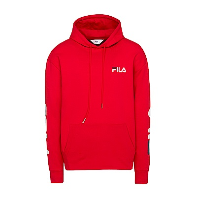 FILA #東京企劃-原宿篇 長袖連帽T恤-紅 1TES-5448-RD