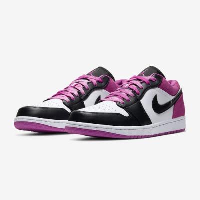 NIKE 運動鞋 AJ1 籃球鞋 包覆 避震  男鞋 白黑紫 CK3022005 AIR JORDAN 1 LOW SE