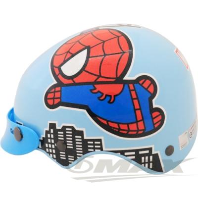 蜘蛛人兒童安全帽-藍色 (贈短鏡片)-快