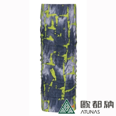 【ATUNAS 歐都納】COOLMAX防曬運動單車頭巾A1ACAA01N深灰/黃