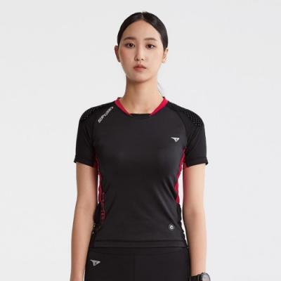 SUPERACE SA-TRAIL 修身版越野跑上衣2.0 / 女款 / 黑色