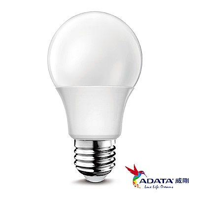ADATA威剛 8W大廣角高效 LED燈泡 8入組(白光/黃光)