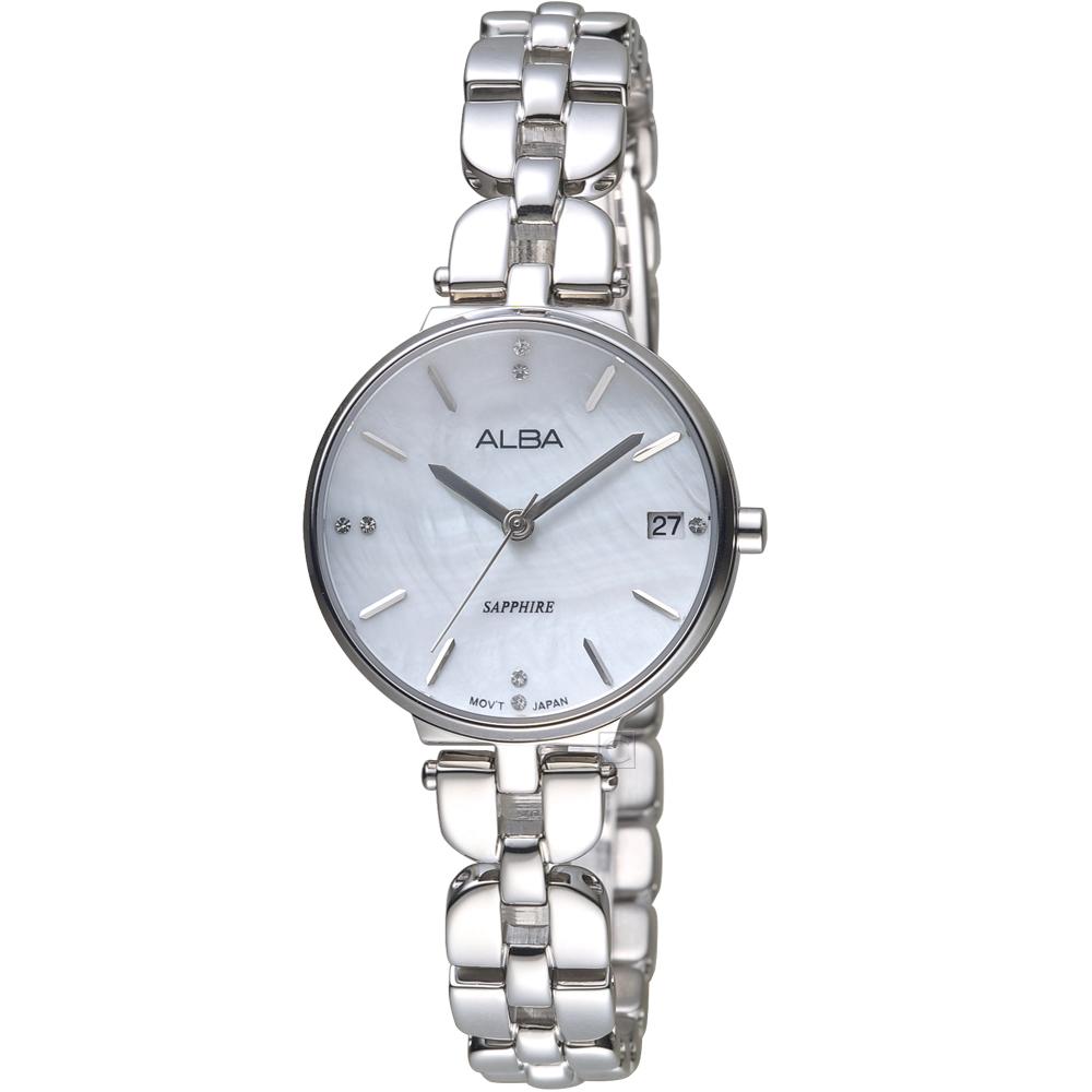 ALBA雅柏經典雅致時尚腕錶(AGBJ75X1)-銀色