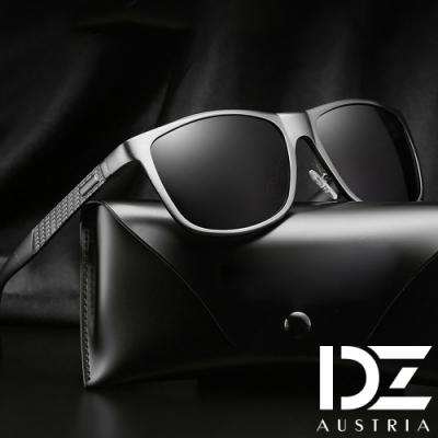 【滿千69折】DZ 雅士品味 抗UV 偏光太陽眼鏡墨鏡(黑框灰片)