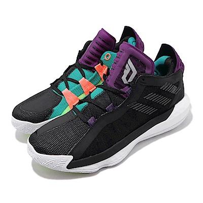 adidas 籃球鞋 Dame 6 GCA 運動 男鞋 Damian Lillard 鴛鴦 雙色 黑 紫 EF9872